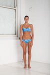 """Cara"" Bandeau Reversible Bikini [Ocean Rush / Indian Summer White]"