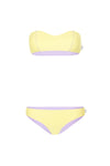 "WAREHOUSE SALE - ""Cara"" Bandeau Reversible Bikini [Long Island Lemon / Lyon Lilac]"
