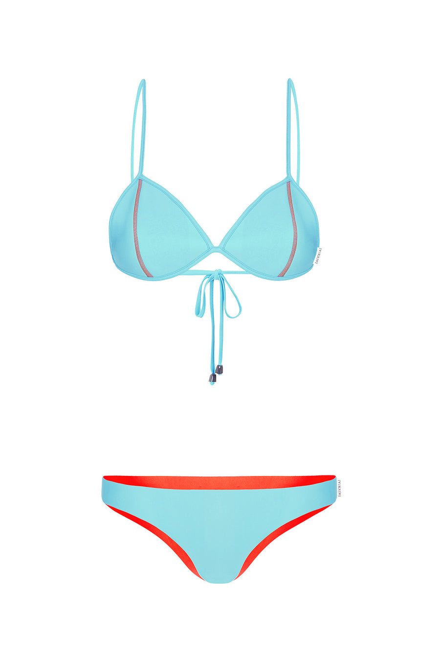 "WAREHOUSE SALE - ""Adriana"" Bralette Reversible Bikini [Waikiki Watermelon / Bahama Blue]"