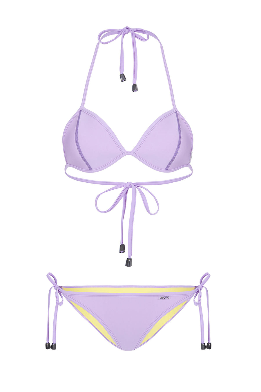 "WAREHOUSE SALE - ""Candice"" Triangle Reversible Bikini [Long Island Lemon / Lyon Lilac]"