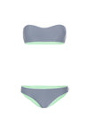 "WAREHOUSE SALE - ""Cara"" Bandeau Reversible Bikini [Montesano Mint/ Sydney Steel]"