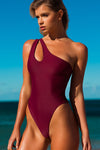 """Victoria"" Lycra 1 PC in [Marine Navy / Bordeaux Burgundy]"
