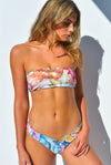 """CHARLOTTE"" BANDEAU BIKINI SET IN [BARRIER REEF / MALDIVIAN WATERS]"