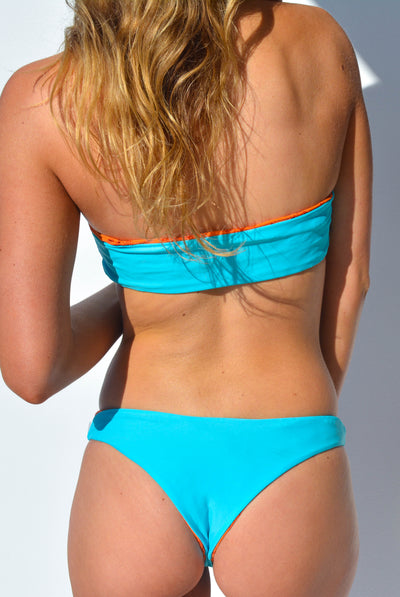 """CHARLOTTE"" BANDEAU BIKINI SET IN [VITAMIN C / MALDIVIAN WATERS]"