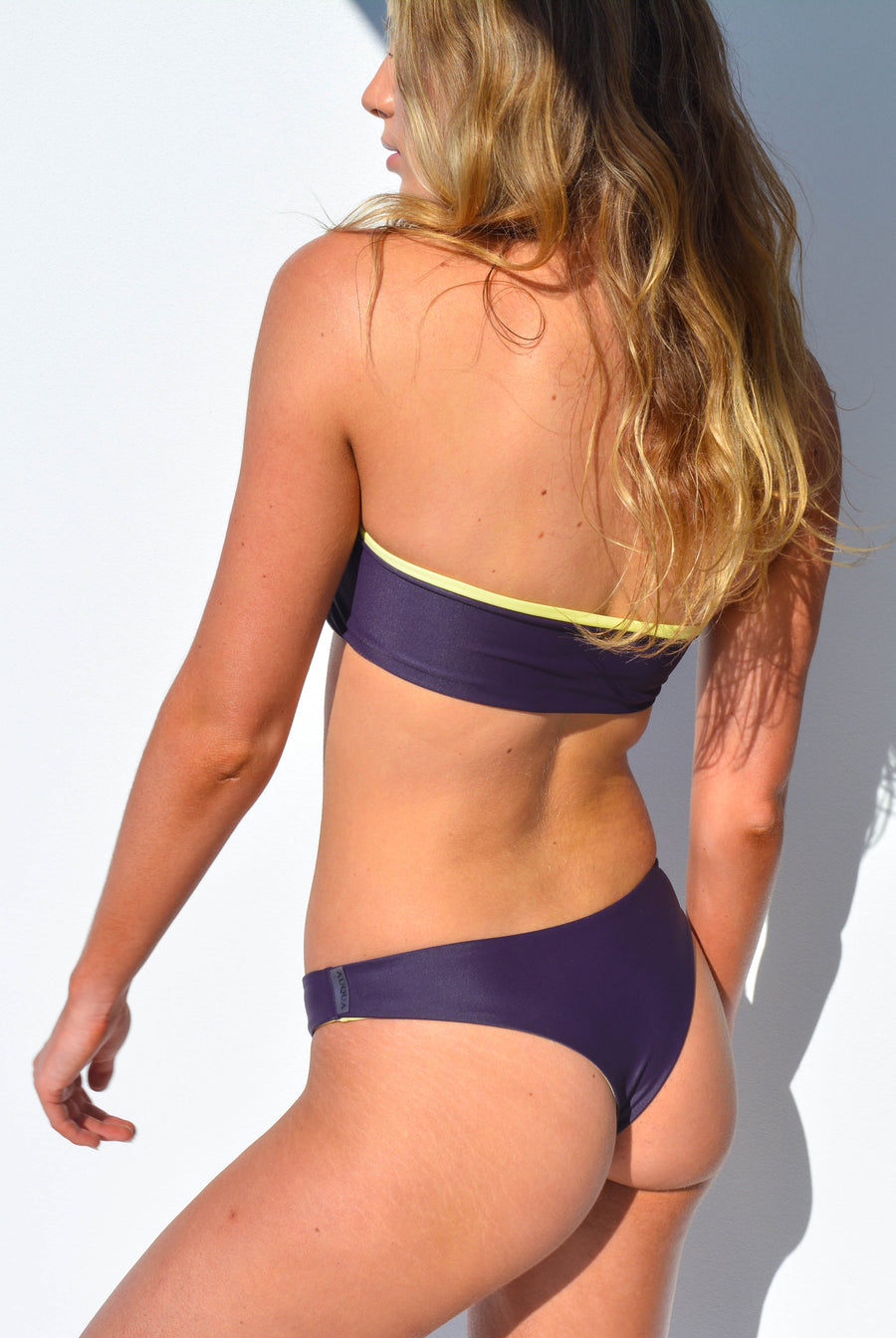 """CHARLOTTE"" BIKINI BOTTOMS IN [GRAPE VINE / LEMON DROP]"