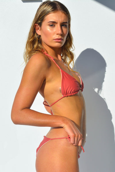 """JO"" TRIANGLE BIKINI SET IN [ROSA ZEBRA/ ROSA MUSK]"