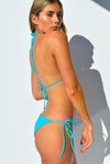 """JO"" TRIANGLE BIKINI SET IN [VITAMIN C / MALDIVIAN WATERS]"