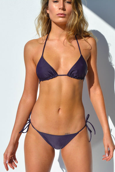 """JO"" TRIANGLE BIKINI TOP IN [GRAPE VINE / LEMON DROP]"