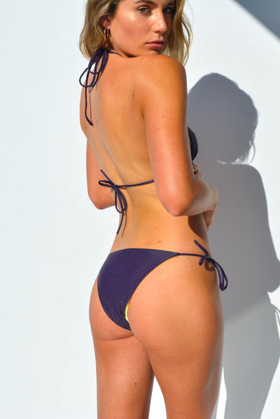 """JO"" ADJUSTABLE BIKINI BOTTOMS IN [GRAPE VINE / LEMON DROP]"