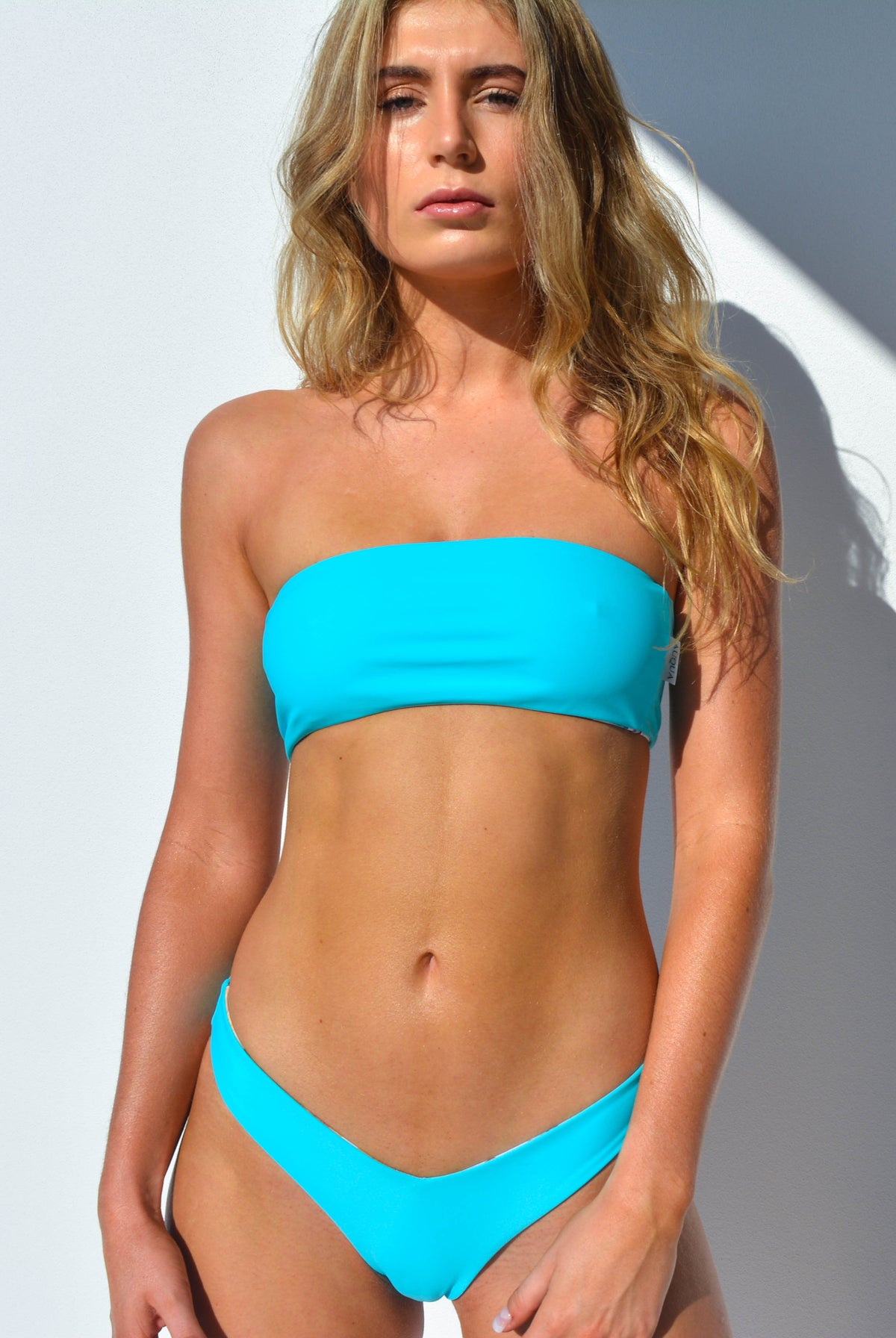 """CHARLOTTE"" BANDEAU BIKINI TOP IN [BARRIER REEF / MALDIVIAN WATERS]"