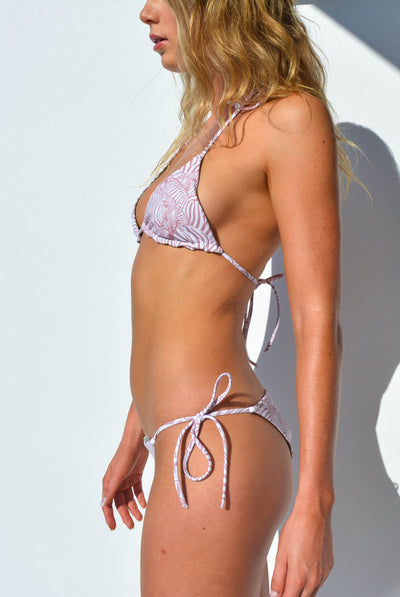 """JO"" ADJUSTABLE BIKINI BOTTOMS IN [ROSA ZEBRA/ ROSA MUSK]"