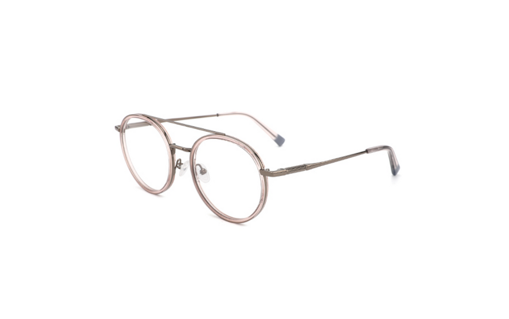 clear aviator round glasses