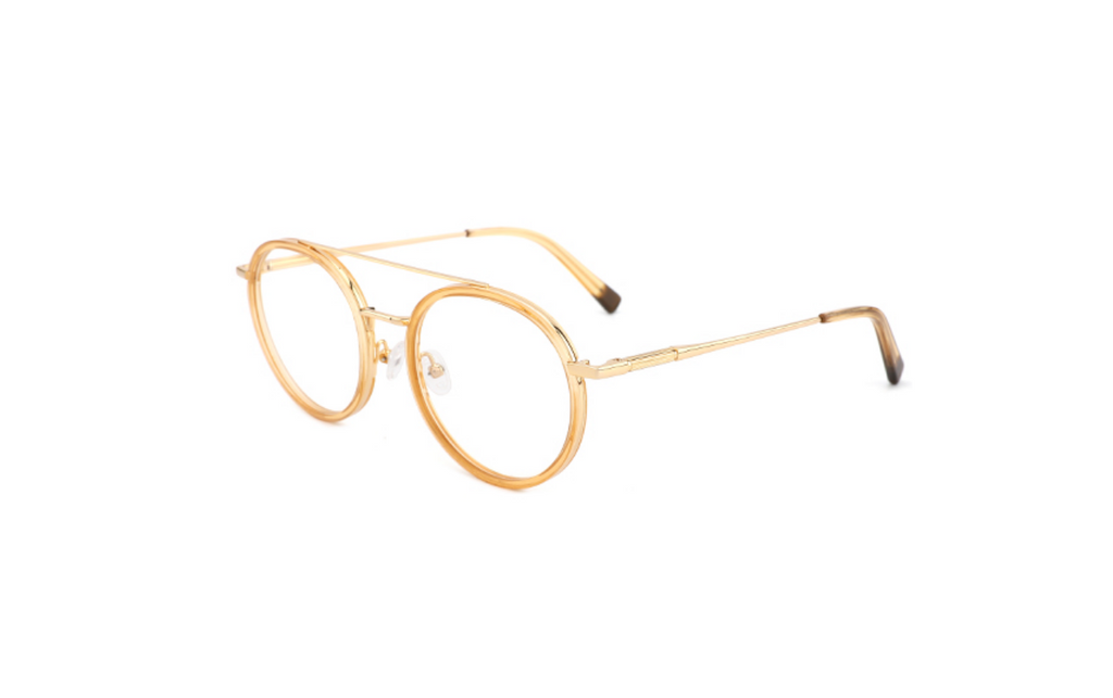 yellow acetate aviator glasses