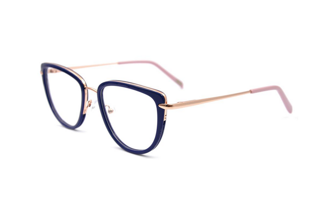 dark blue acetate glasses
