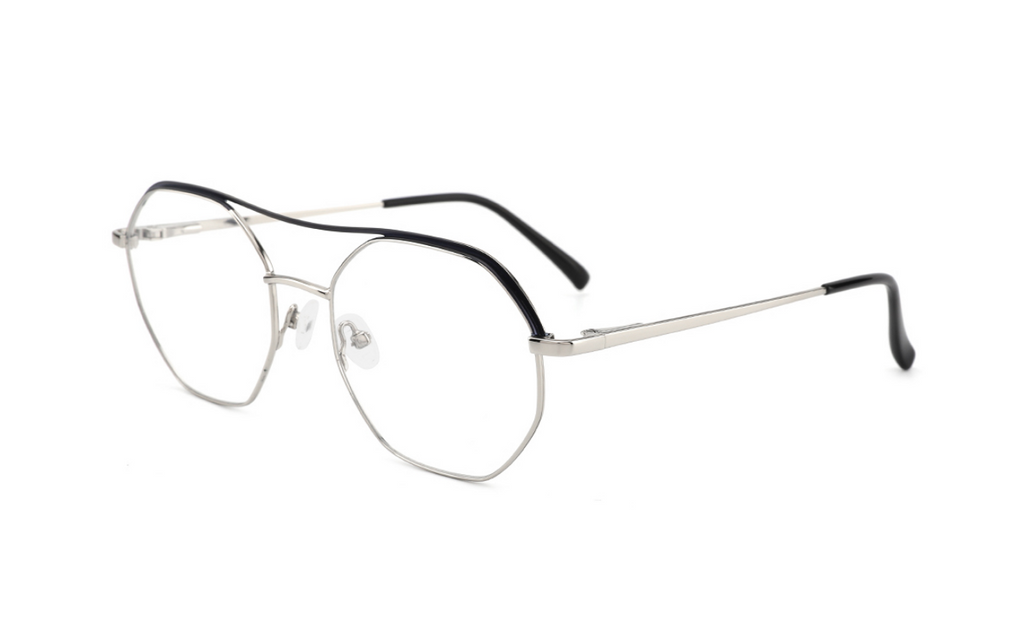 silver fashionable glasses