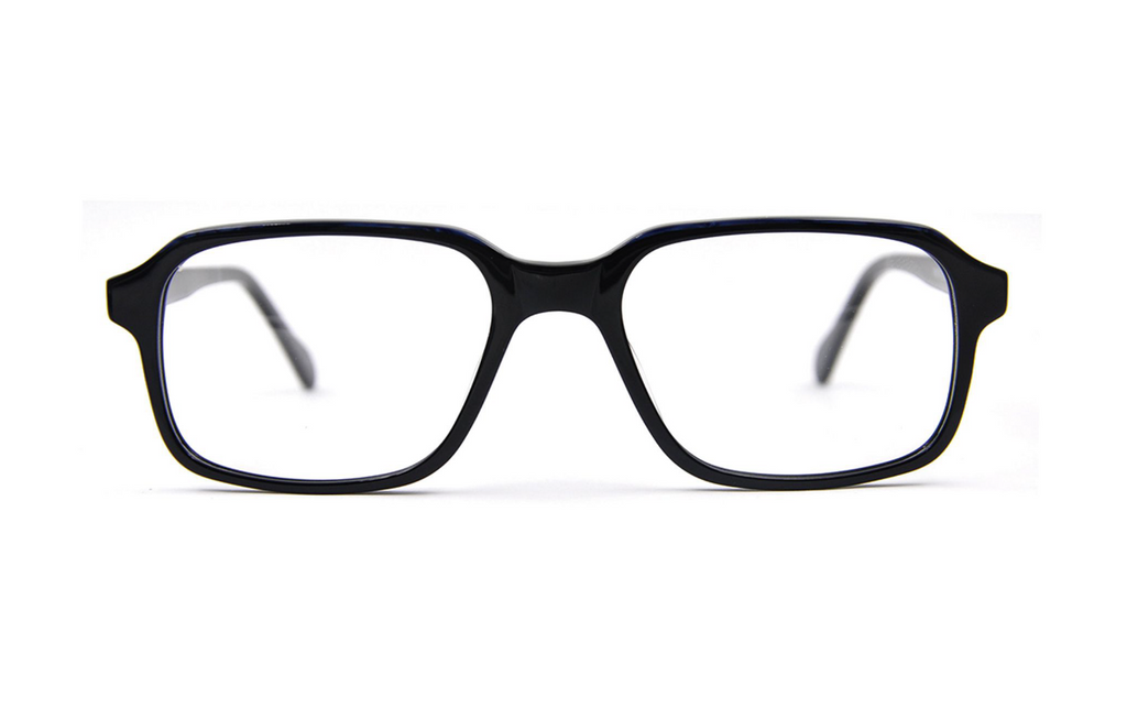 Black square prescription glasses frames