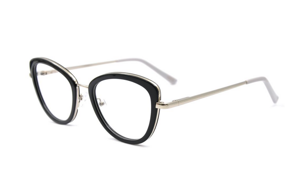 The Glasses Club Cheryl Black Acetate Prescription Anti Blue Glasses