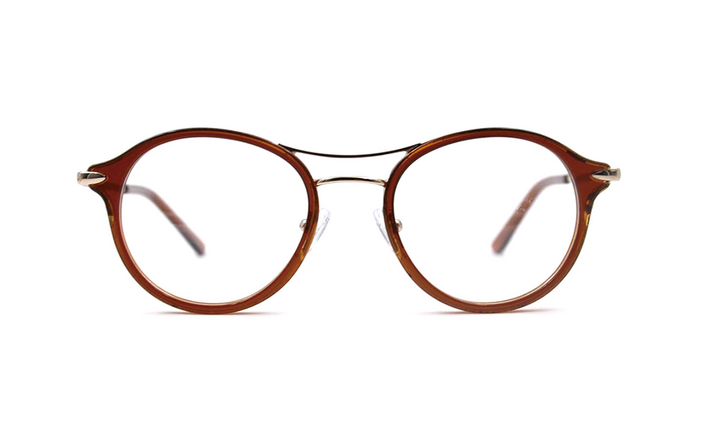 round trendy glasses