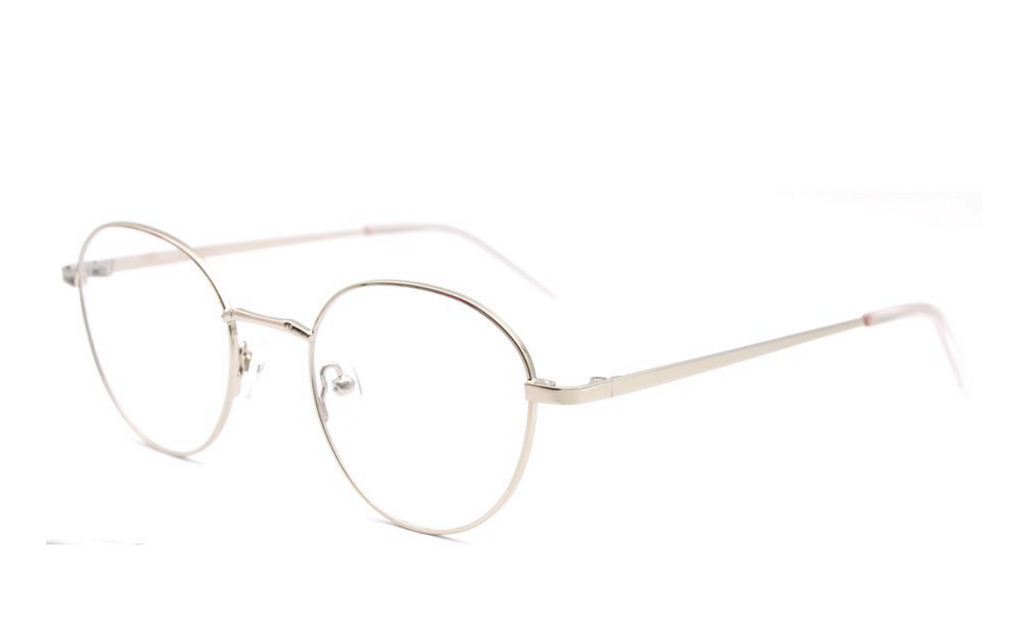 silver round simple glasses