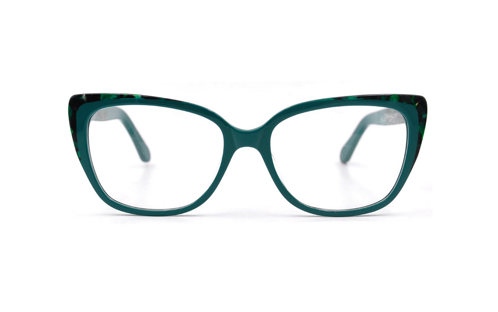 big acetate green glasses