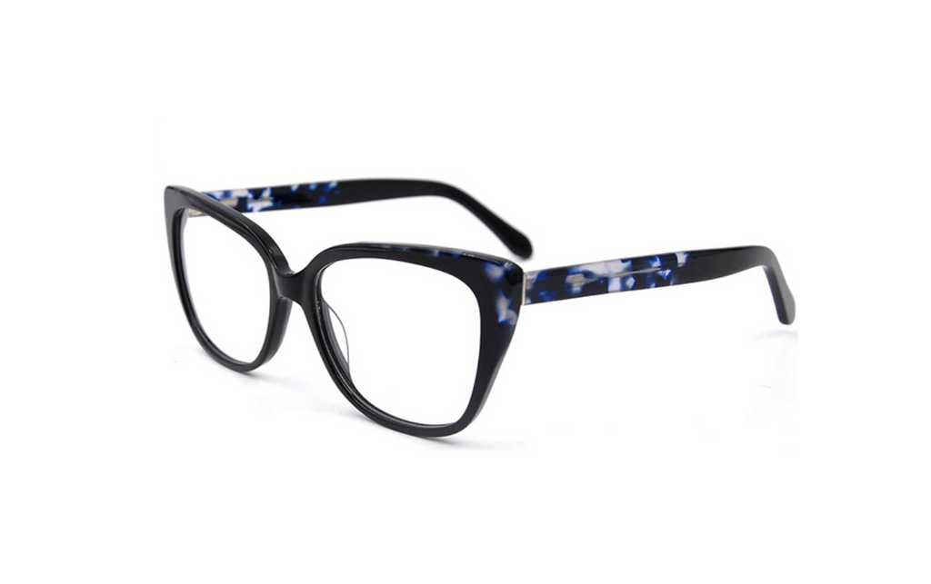 big acetate blue glasses