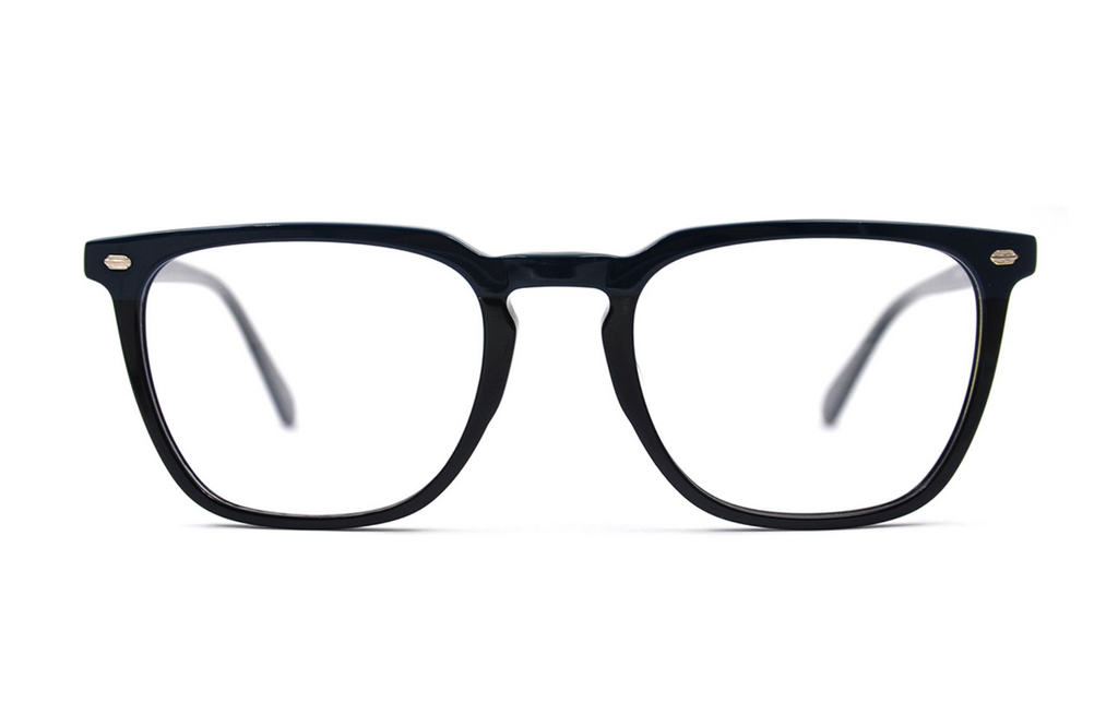 square acetate black glasses frames