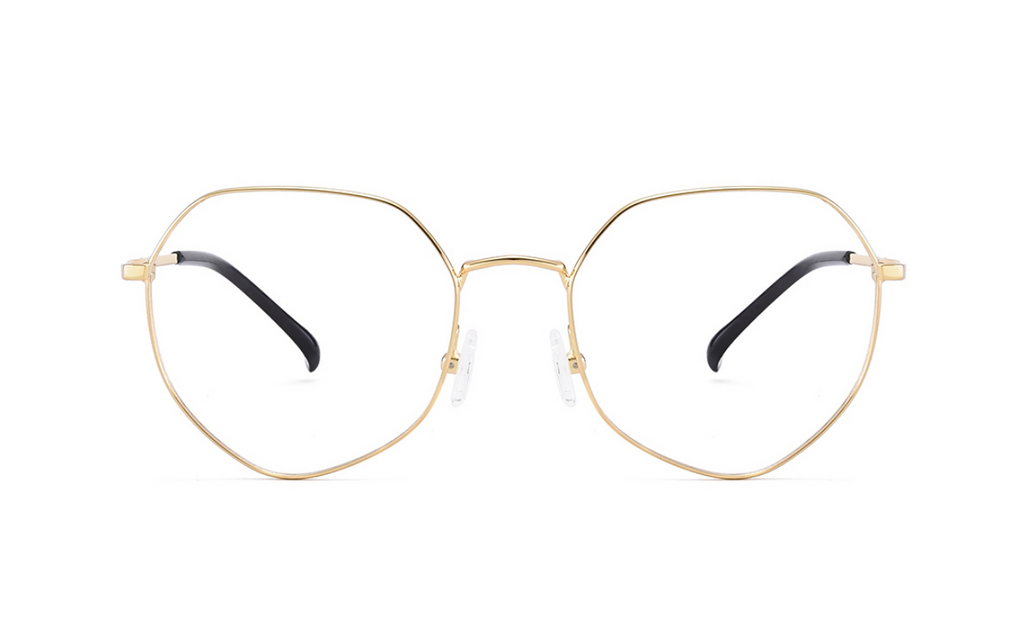 gold heart glasses