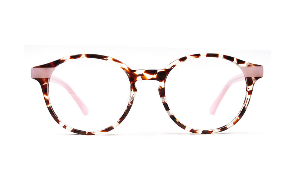 Pink acetate glasses frames