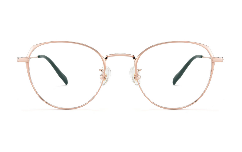 rose titanium glasses