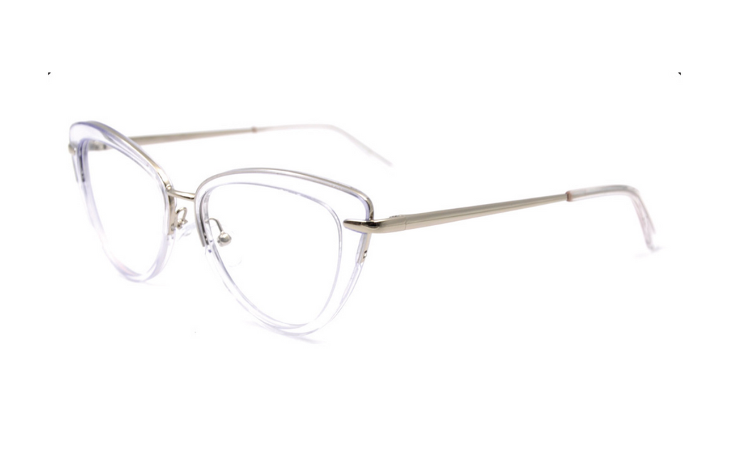 transparent cat eye frame