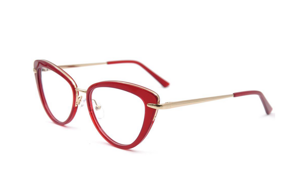 pretty red cat eye frames