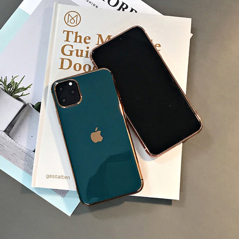 Luxury Electroplated Bumper Glossy Cover With Logo for iphone