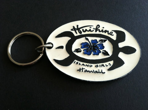 Huihine Island Girl Hawaiian Key Chain