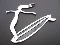 Hang Ten Surfer Girl Auto Emblem Surfing Car Sticker