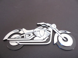 Raised Chromed Motorcycle Cruiser Auto Emblem Car Decal