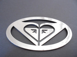 Roxy Surfing Chromed Auto Emblem Car Badge