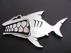 Shark Auto Emblem Fishing Surfing Car Sticker
