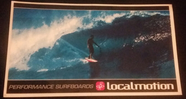 1990's Local Motion Pipeline Photo Surfing Sticker
