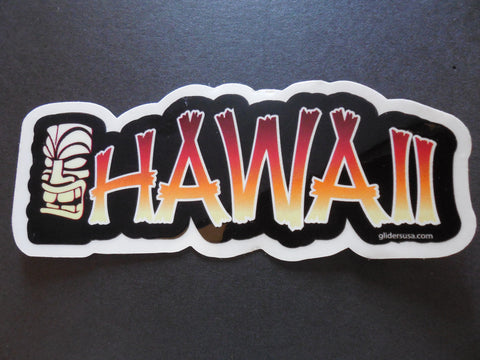 Hawaii Tiki Gods Surfing Sticker Decal