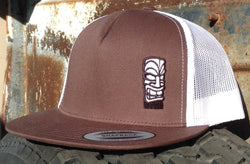 "Tiki God Hawaii Brown Trucker Hat ""Team Rider Edition"""