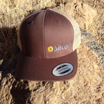 "Bitcoin Embroidered Brown / Tan ""FITTED"" Trucker Hat"