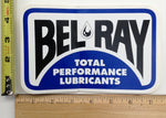 BEL RAY TOTAL PREFORMANCE LUBRICANTS VINTAGE STICKER LARGE