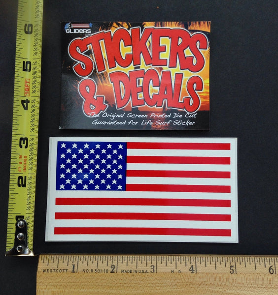 American Flag Screen Printed Sticker Gliders USA