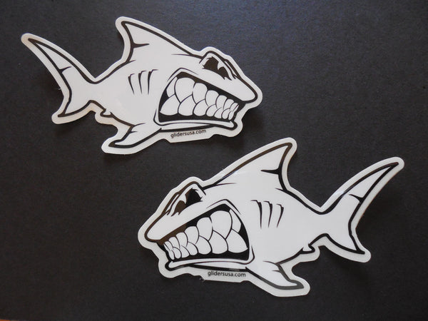 Shark Left and Right Facing Surfing Stickers Decals