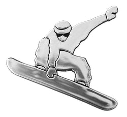 Snowboarder Auto Emblem Car Sticker