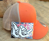 Hang Loose / Shaka Trucker Hat Orange / Tan TEAM RIDER Edition available June 15th, 2017