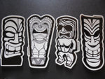Tiki Gods Surfing Sticker Decal