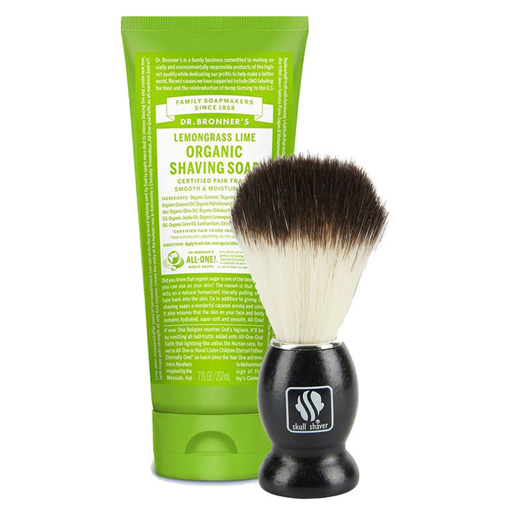 Organic shaving soap and brush