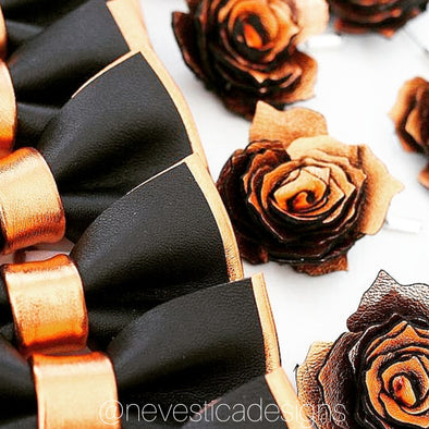 copper groomsmen wedding bow ties and boutonnieres nevestica nevestisa Fall Wedding Color Palettes That Are Totally Modern