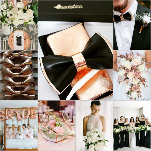black and ROSE GOLD COPPER WEDDING ACCENTS THEME COLOR BOARD for 2020